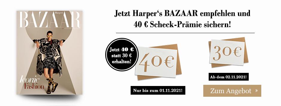 Harper's BAZAAR LWL + 40 € Scheck - Countdown