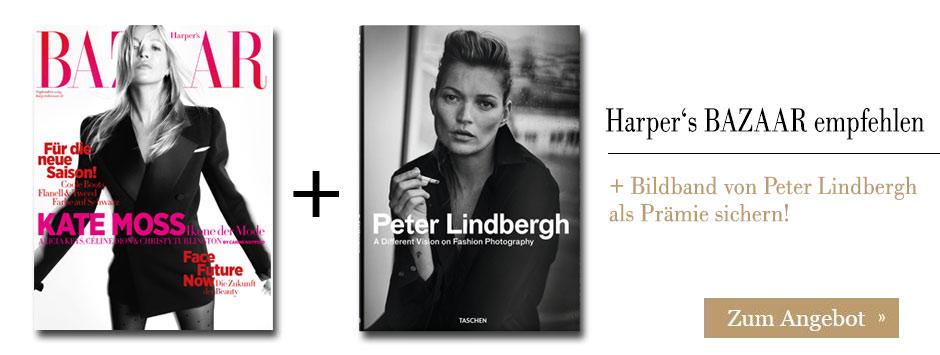 Harper's BAZAAR empfehlen und Peter Lindbergh Bildband sichern!