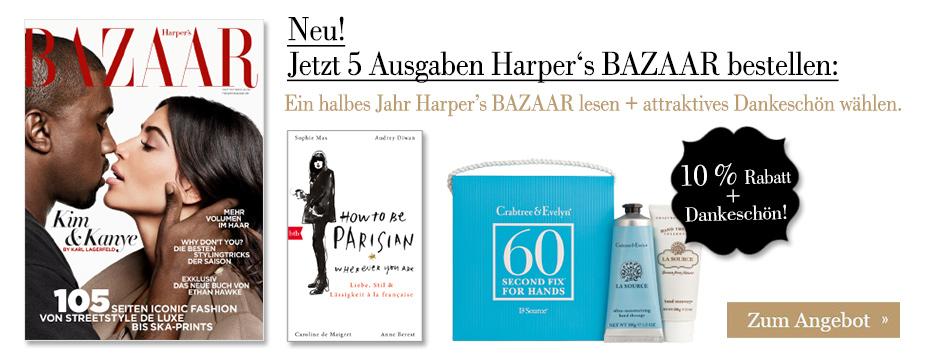 5 Ausgaben Harper's BAZAAR + attraktives Dankeschön sichern!