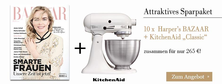 """10 x  Harper's BAZAAR + KitchenAid """"Classic"""" sichern!"""