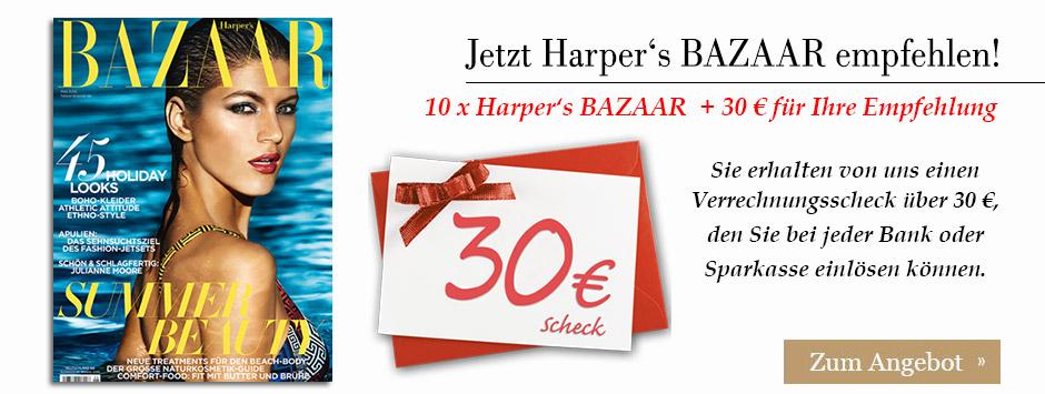 Harper's BAZAAR Leser werben Leser