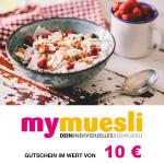 10 € mymuesli Gutschein